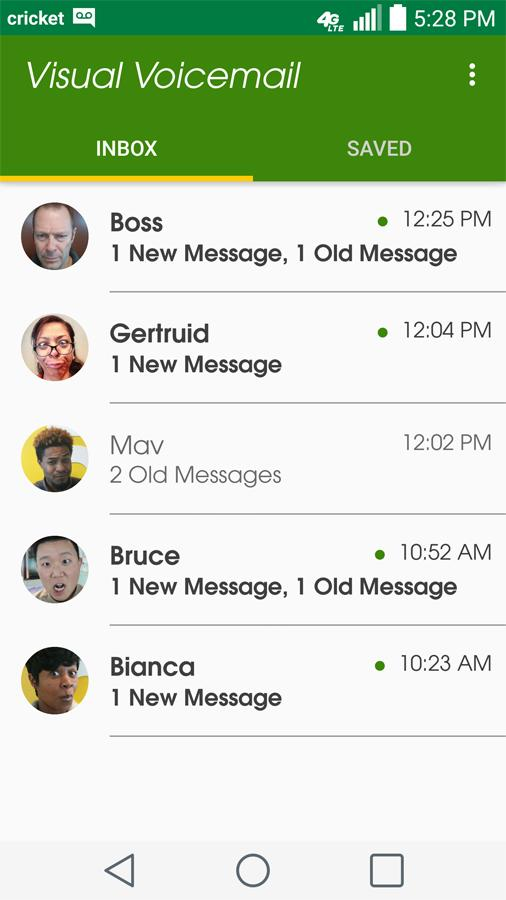 Cricket Visual Voicemail- screenshot