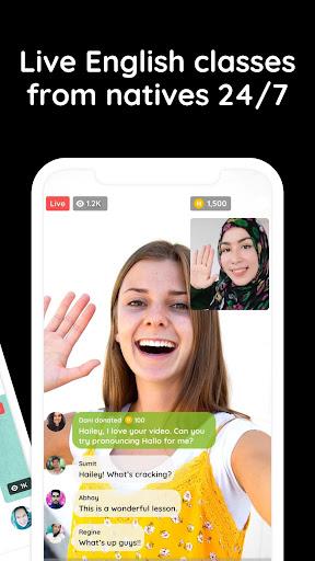 Hallo: Speak English with natives - 24/7! ud83eudd13 2.14.0 screenshots 2