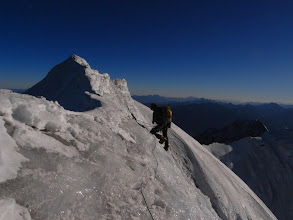 Photo: Only a few more metres remain to the touched summit of Ren Zhong Feng
