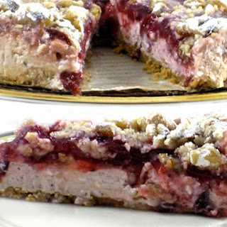 A Spectacular, Skinny Cranberry Cheesecake