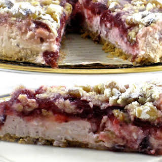 A Spectacular, Skinny Cranberry Cheesecake.