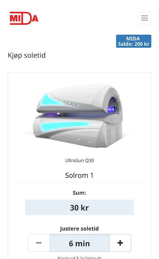 MIDA Solkonto- screenshot
