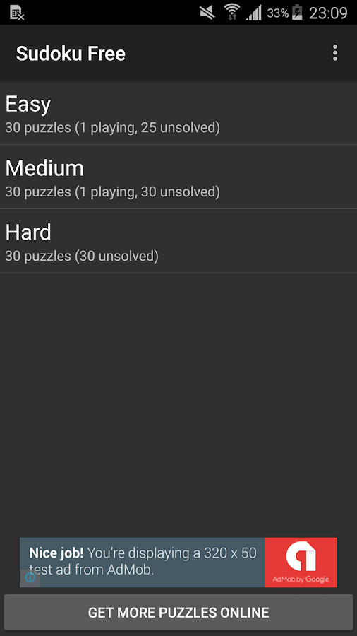 Sudoku Free [BETA]- screenshot