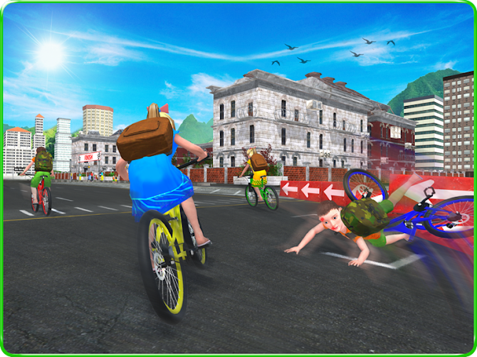 Kids School Time Bicycle Race Android 13