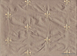 Photo: Agra 10 - Palace Embroidery - Mink   100% Silk Taffeta Plain