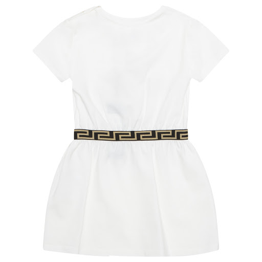 Thumbnail images of Young Versace Baby White Dress