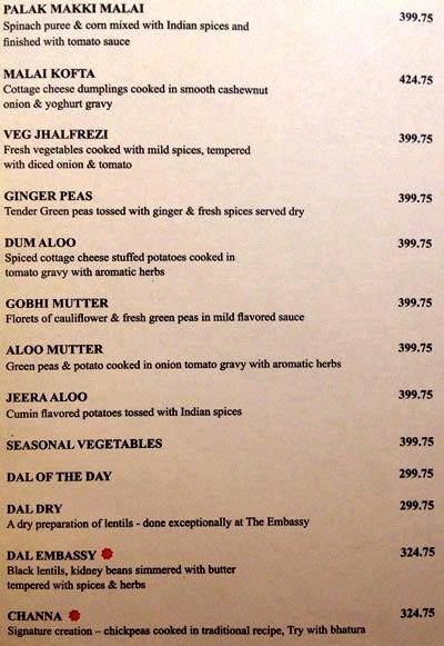 Embassy menu 12