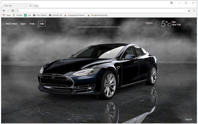 Tesla Wallpaper Cars New Tab Themes