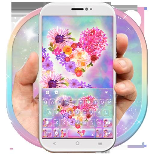 Lovely Flower Heart Keyboard Theme Icon