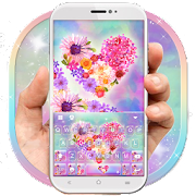 App Lovely Flower Heart Keyboard Theme APK for Windows Phone