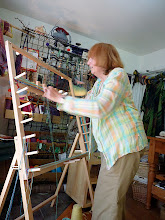Photo: lisa has disabilities but had fun winding her own  warp....