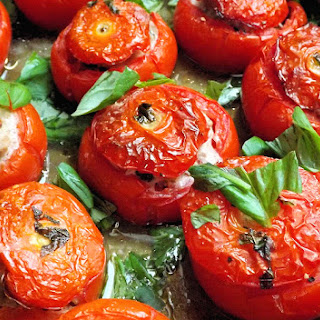 Tomatoes Stuffed With Pork & Basil.