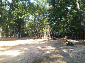 Photo: Looking across the Juniors cabin area from the first Juniors cabin.