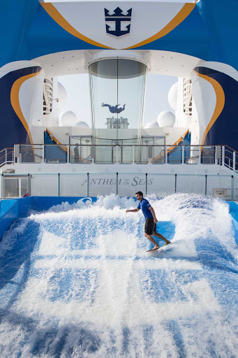 Anthem-of-the-Seas-FlowRider-and-RipCord - A view of FlowRider and RipCord aboard Anthem of the Seas.