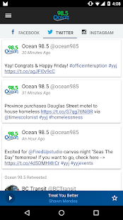 Ocean 98.5 Victoria- screenshot thumbnail