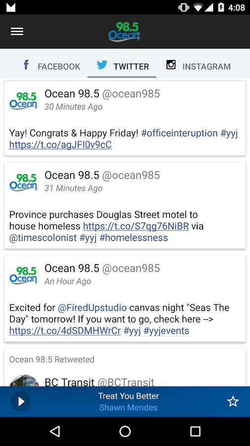 Ocean 98.5 Victoria- screenshot