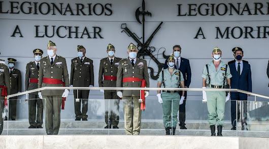 La Legión cierra un año de Centenario marcado por la pandemia