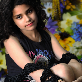 The Solitary Princess by Rajib Chatterjee - Babies & Children Child Portraits