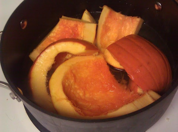 To Prepare the Mashed Pumpkin: Use 1 1/2 pounds of skin-on, raw pumpkin to yield...