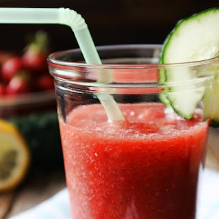 Strawberry Cucumber Smoothie.