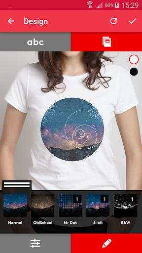 T-shirt design - Snaptee 1.1.7.3 screenshots 2