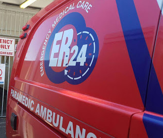 ER24 spokesperson Ineke van Huyssteen said paramedics found the man lying in a garden when they arrived on the scene.