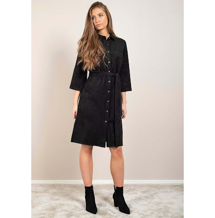 Dry Lake Gullis dress black faux suede