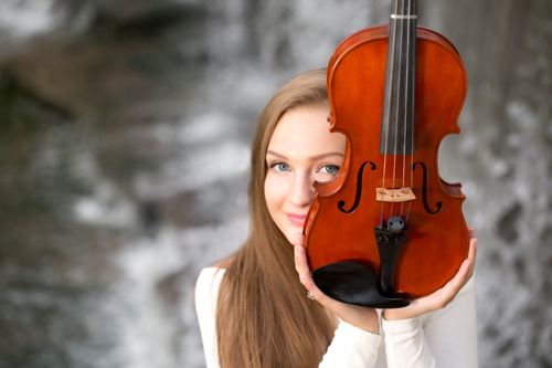 YEARBOOK PHOTO WITH VIOLIN