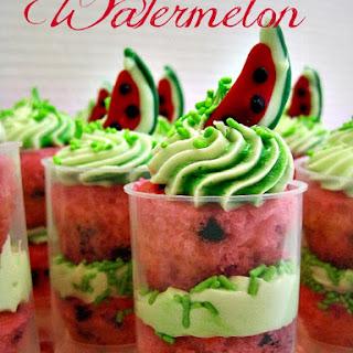Watermelon Poke Mini Cupcake Push Up Pops