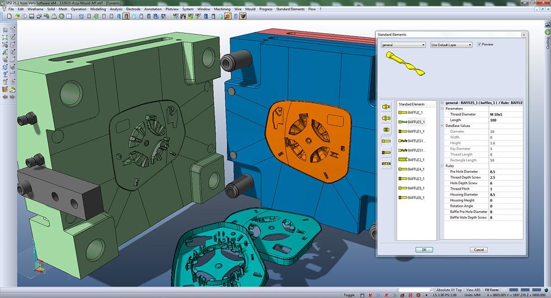 VISI симулирует кинематику пресс-формы и дает возможность поправить ошибки конструкции до начала резки дорогого металла.