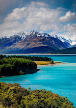 Photo: The Drive to Mount Cook  I saw this a few days ago when I took this delightful drive… it's only a few hours away, and much of the trip is spent driving along this crystal blue lake...