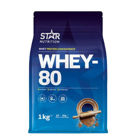 Star Nutrition Whey 80 1kg - Gingerbread Cookie Dough