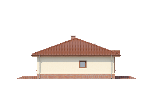 Wróbel bez garażu B - Elewacja lewa