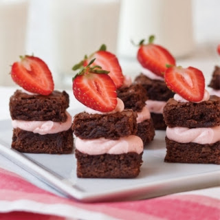 Strawberry Brownie Bites.