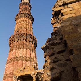 Qutub Minar by Saravanakumar Thangavelu - Buildings & Architecture Public & Historical ( qutub minar, delhi, qutub minar frames )