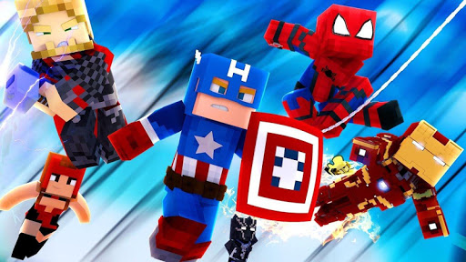 Superhero Skins for Minecraft Pocket Edition MCPE 1.1 screenshots 2