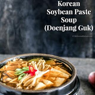 Korean Soybean Paste Soup (Doenjang Guk) Recipe