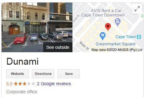 Dunami Loans Google Reviews