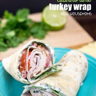 Cilantro Lime Turkey Wrap.