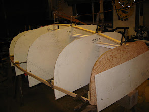 "Photo: Keel ""timber"" and gunwales, stern view."