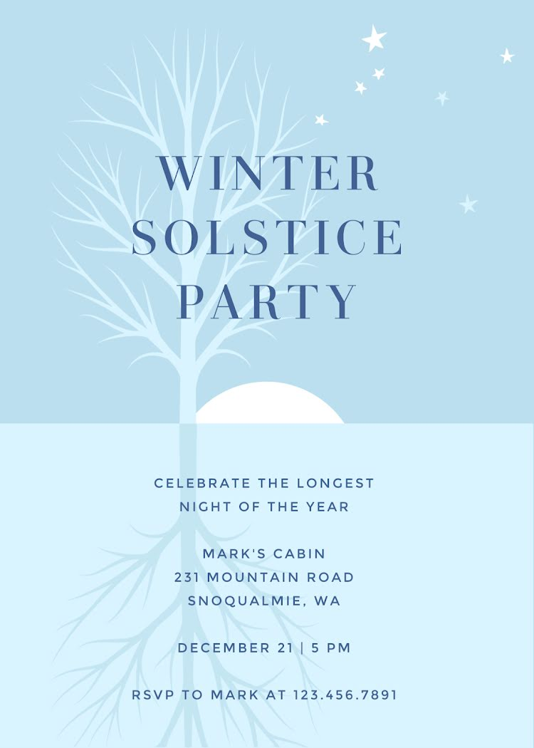 Winter Solstice Party - Party Invitation Template