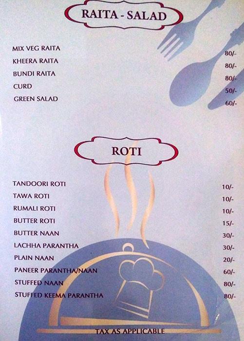 Bhashi's Family Restaurant menu 4
