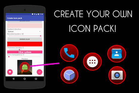 Icon Pack Generator - Create your own icon pack! Screenshot
