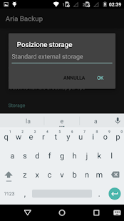 Aria Backup Screenshot