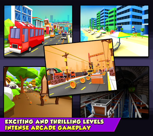 KIDDY RUN - Blocky 3D Running Games & Fun Games - screenshot