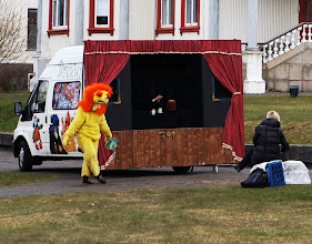 Photo: A bit of mobile childrens' theater with a very small audience