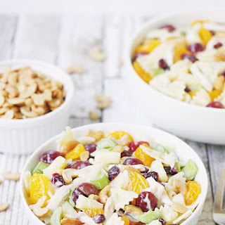 Chicken Bow Tie Pasta Salad with Grapes and Cashews Recipe