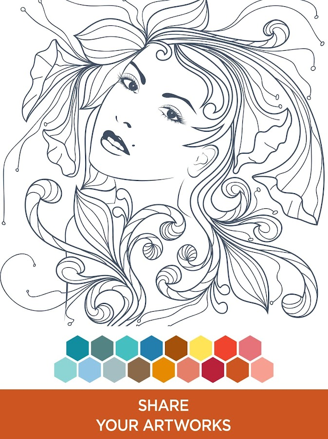 Coloring book mandalas android apps on google play Coloring book for adults apk