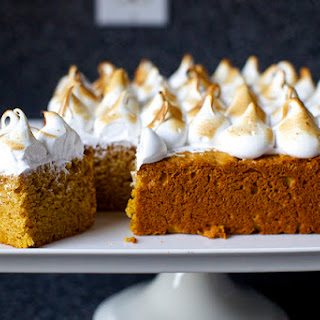 Sweet Potato Cake with Toasted Marshmallow Frosting.