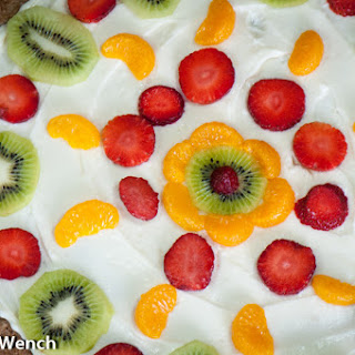 Fruit Pizza with Whole Wheat Base.